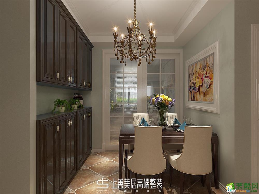 石家庄三室两厅一卫装修―滨河华府130平美式风格装修效果图