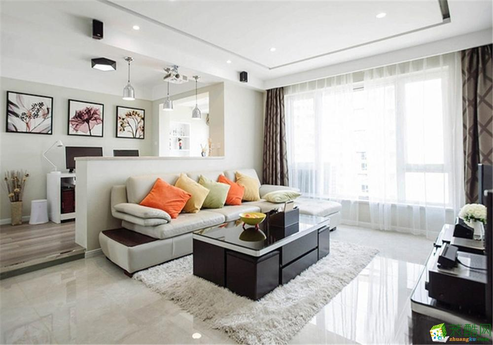 重庆三室两厅装修-现代风格110平米装修效果图
