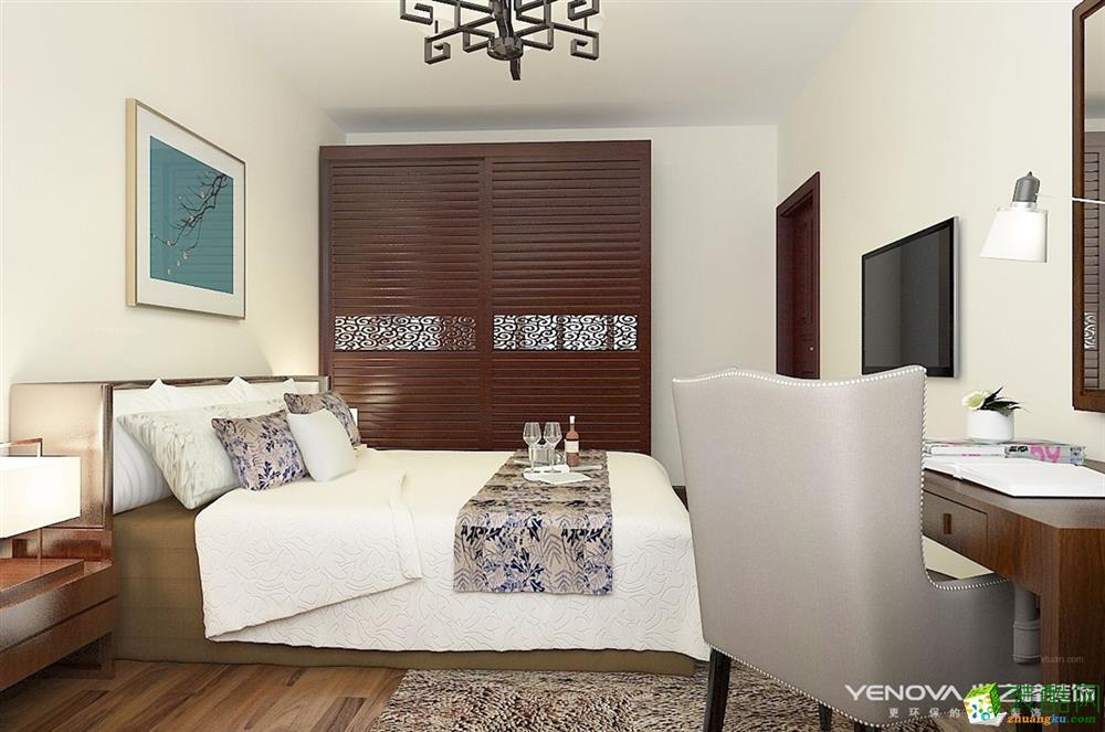 郑州四室两厅两卫装修―广电天韵180平新中式风格装修效果图