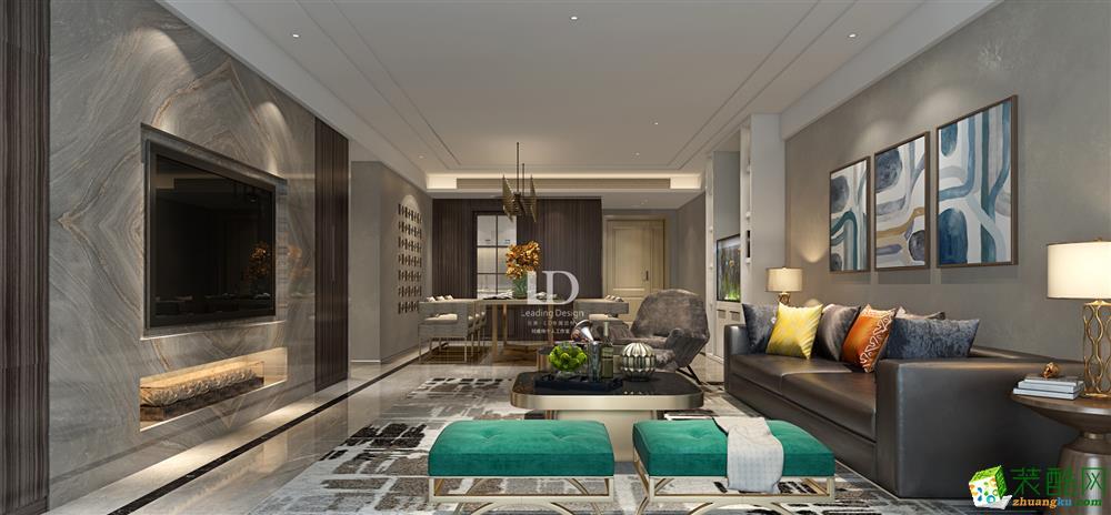 重庆四室两厅装修-棕榈泉现代风格180平装修效果图
