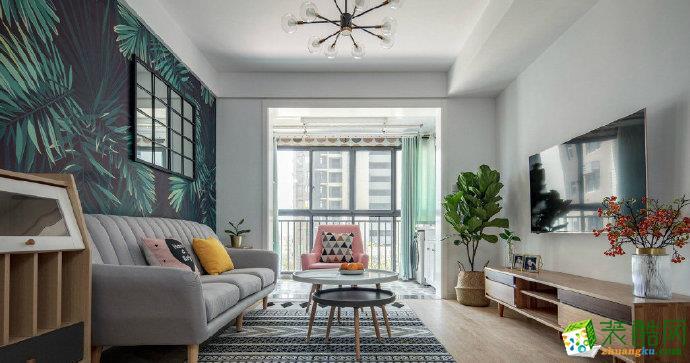 重慶三室兩廳裝修-巴南府邸北歐風格90平米裝修效果圖-佳天下裝飾