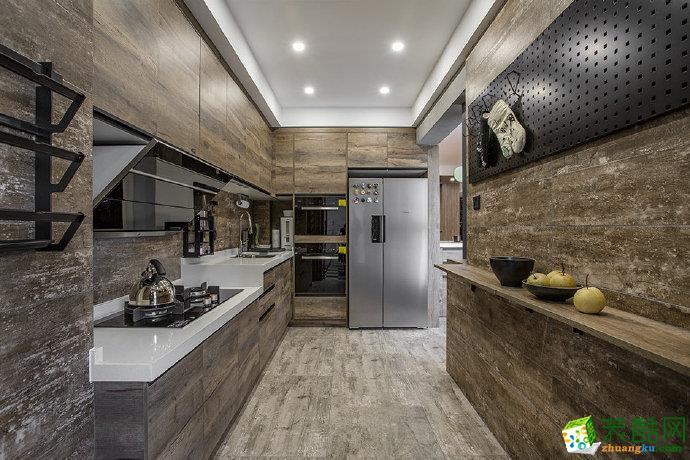 重庆三室两厅装修-110平米工业风格装修效果图赏析