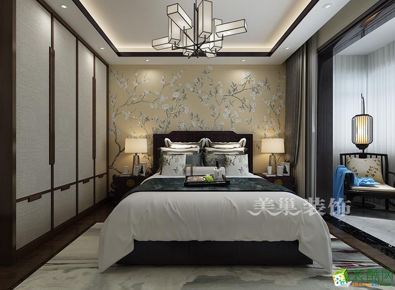 郑州三室两厅一卫装修―美巢装饰铁道京广家园130平方新中式风格装修效果图