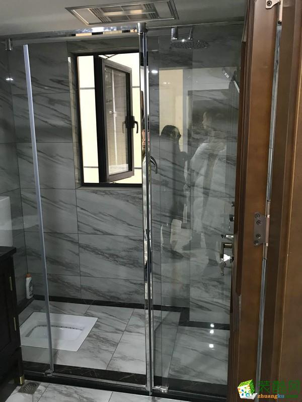 重庆三室两厅装修-金科公园王府150平米新中式风格装修效果图赏析-诗情装饰