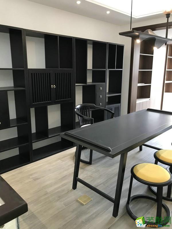 重庆三室两厅装修-金科公园王府150平米新中式风格装修效果图