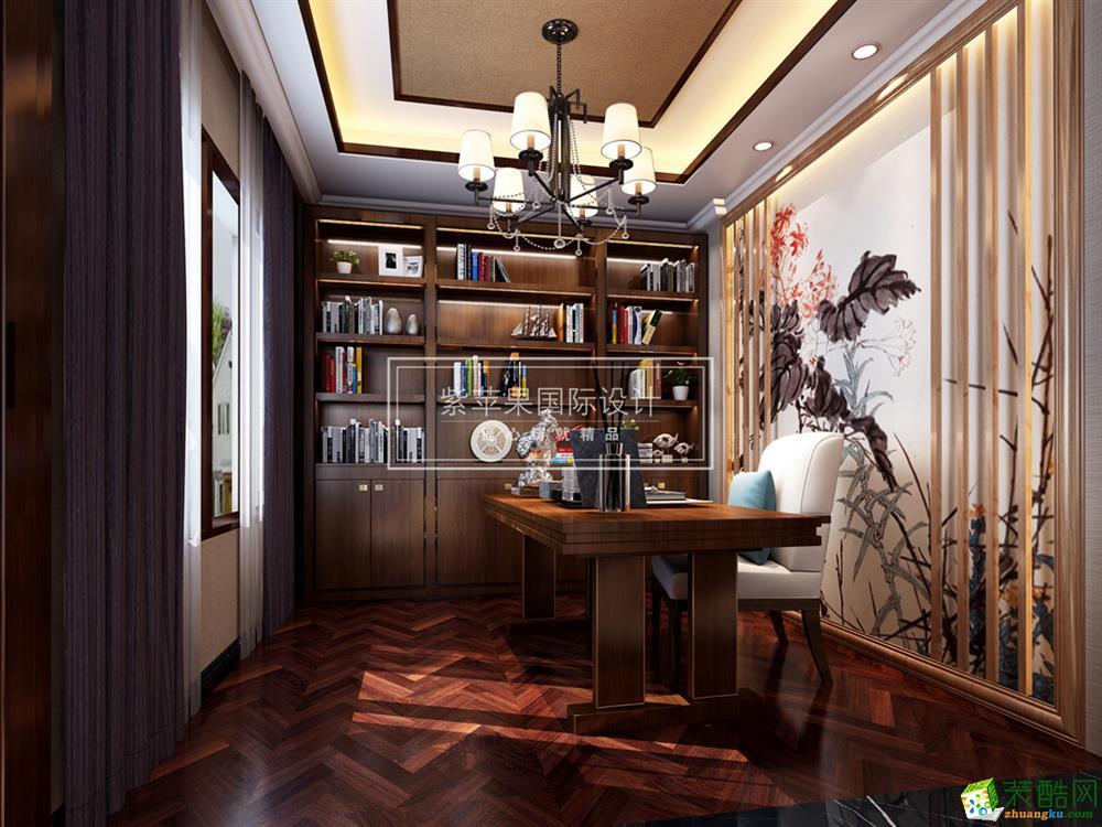 重庆别墅装修-约克郡480平米新中式风格装修效果图赏析-紫苹果装饰