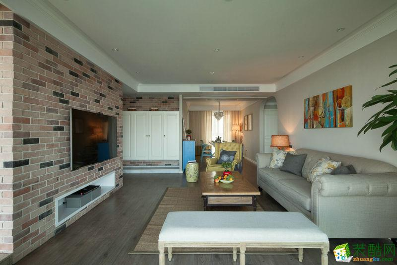 重庆三室两厅装修-85平米北欧风格装修效果图-居联峰尚