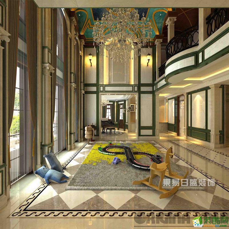 重庆别墅装修-玫瑰园600平米法式风格装修效果图-东易日盛
