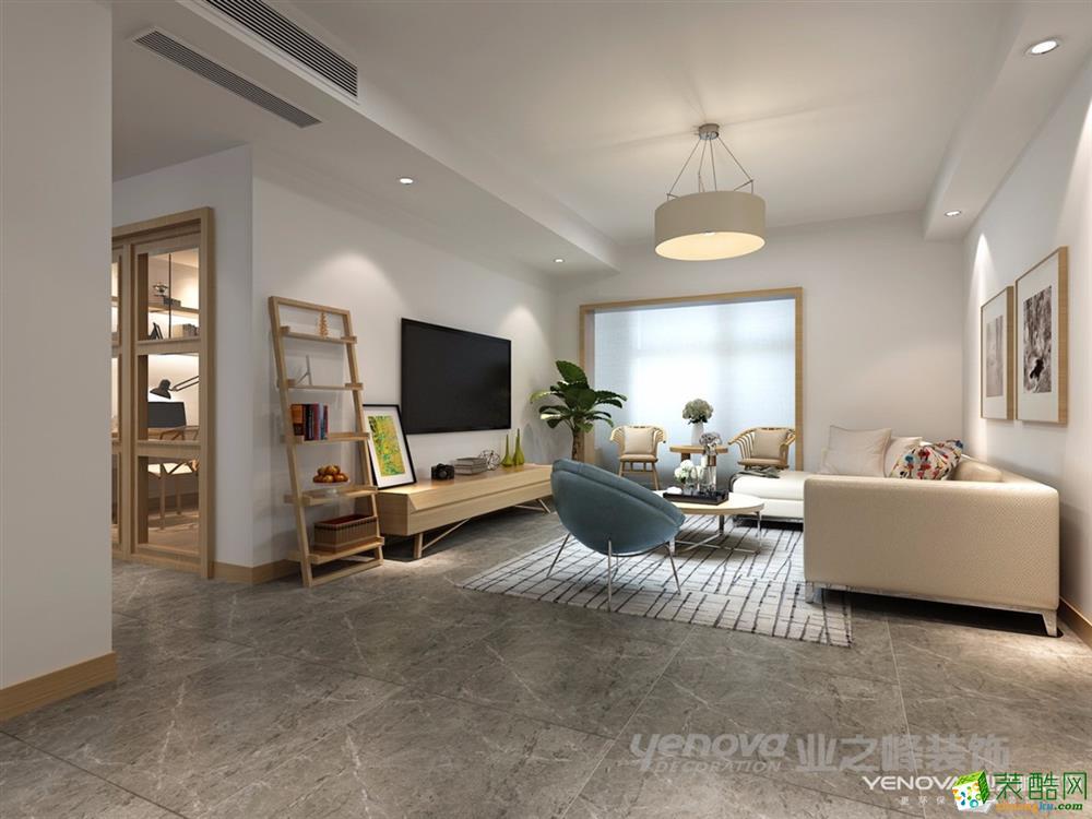 >> 成都三室两厅装修-110平米日系风格装修效果图-业之峰装饰