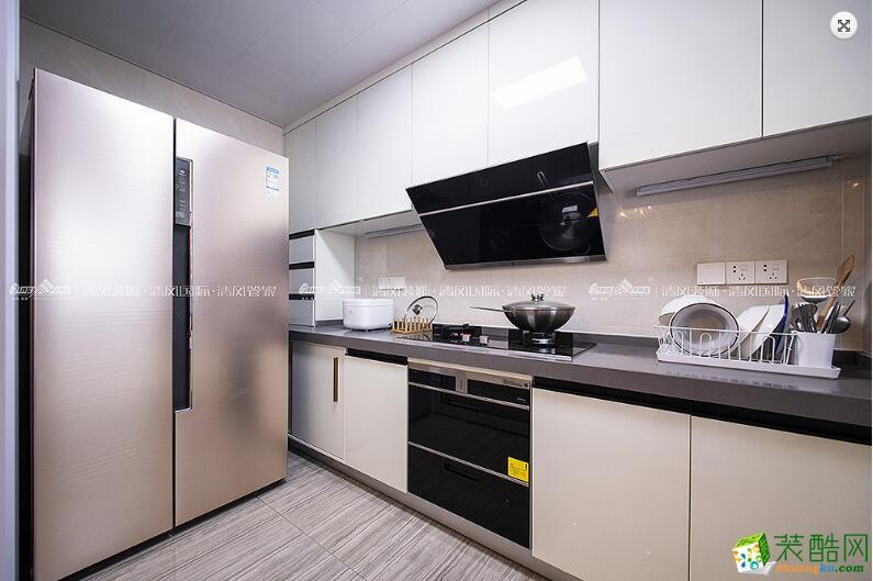 厨房  苏州3室2厅2卫装修―清风装饰中航樾玺140�O简约作品