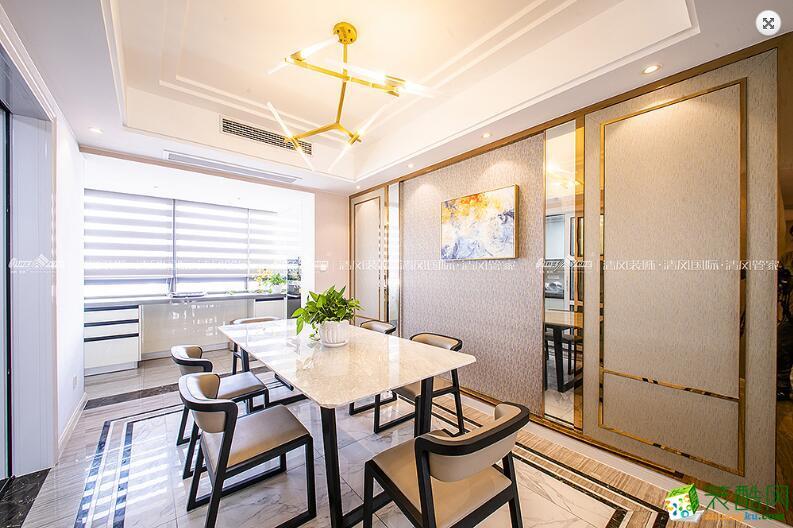 餐厅  苏州3室2厅2卫装修―清风装饰中航樾玺140�O简约作品