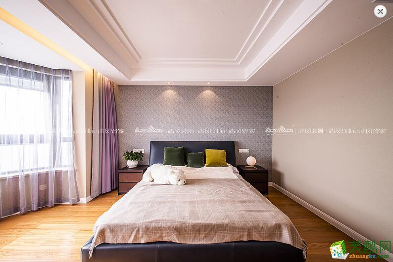 卧室  苏州3室2厅2卫装修―清风装饰中航樾玺140�O简约作品
