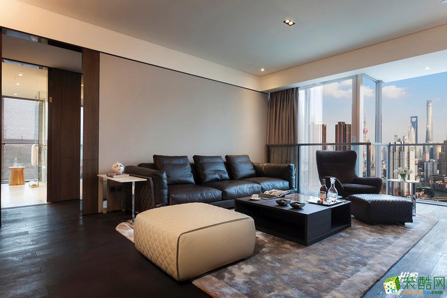 软装饰  武汉120㎡3室2厅1卫装修—嘉禾现代港式风格设计效果图