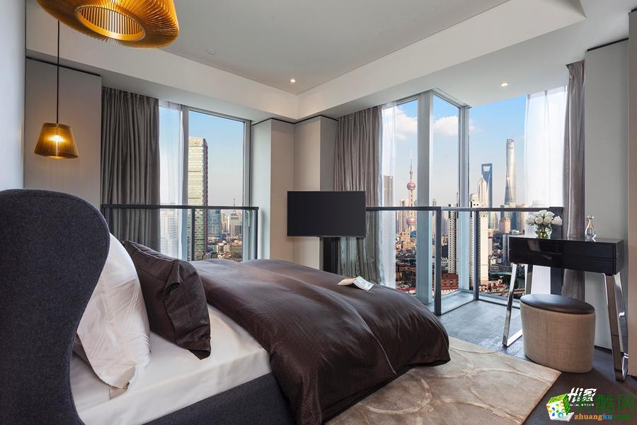 卧室  武汉120㎡3室2厅1卫装修—嘉禾现代港式风格设计效果图