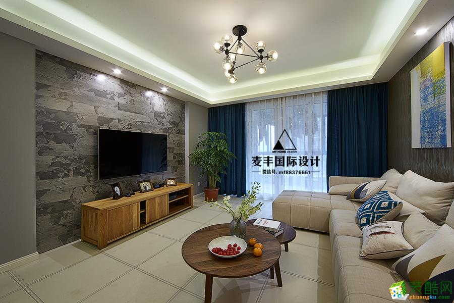 客厅  杭州150㎡4室2厅装修—麦丰设计—康城国际简约风格装修作品