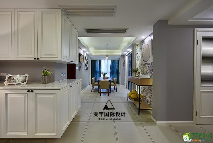地砖  杭州150㎡4室2厅装修—麦丰设计—康城国际简约风格装修作品