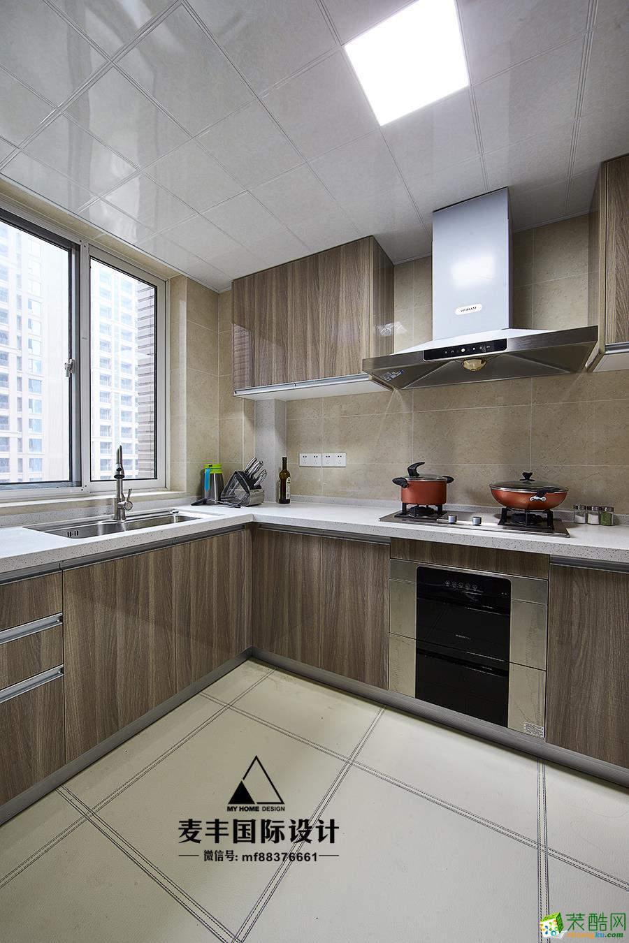 厨房  杭州150㎡4室2厅装修—麦丰设计—康城国际简约风格装修作品