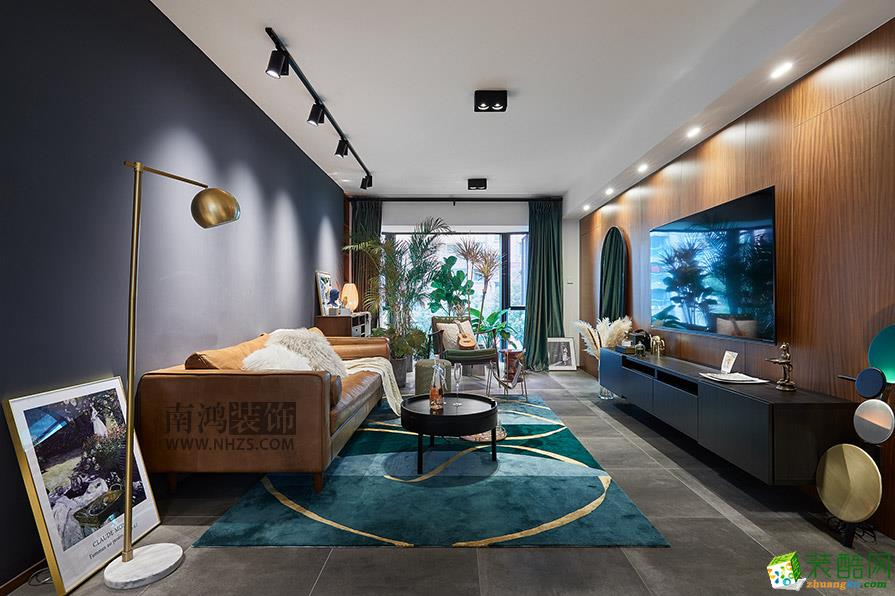 杭州现代雅苑134�O三室两厅两卫现代风格装修设计效果图