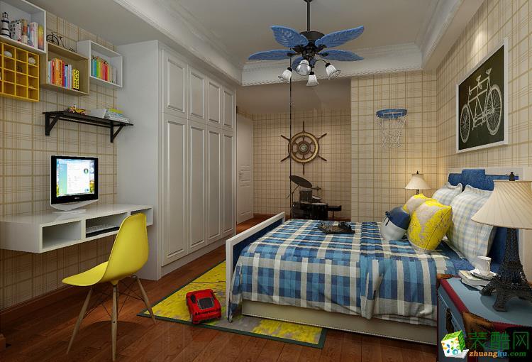郑州三室两厅两卫装修―美居匠舍装饰100平现代简约风格装修效果图