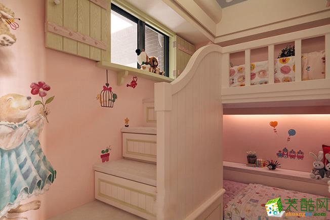 济南安家乐装饰-105平米田园三居室装修案例