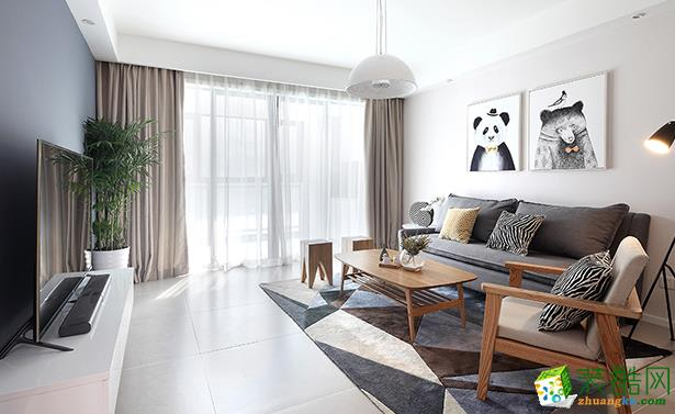 济南安家乐装饰-95平米简约两居室装修案例