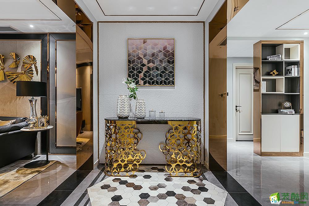 [软装饰]苏州龙湖时代天街140㎡美式轻奢三室两厅实景图