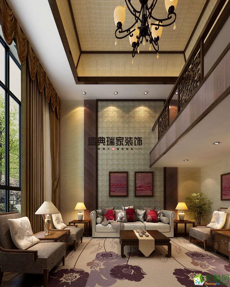 南通博园岚郡350�O东南亚风格别墅装修设计效果图