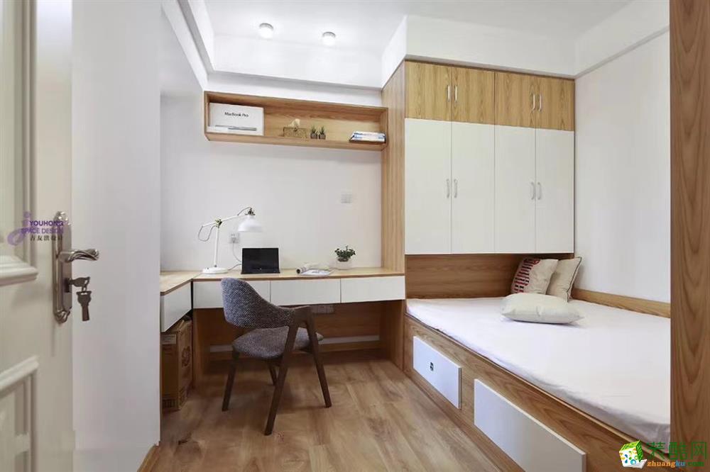 >> 乌鲁木齐三室两厅装修-120平米北欧风格装修效果图-怀林装饰