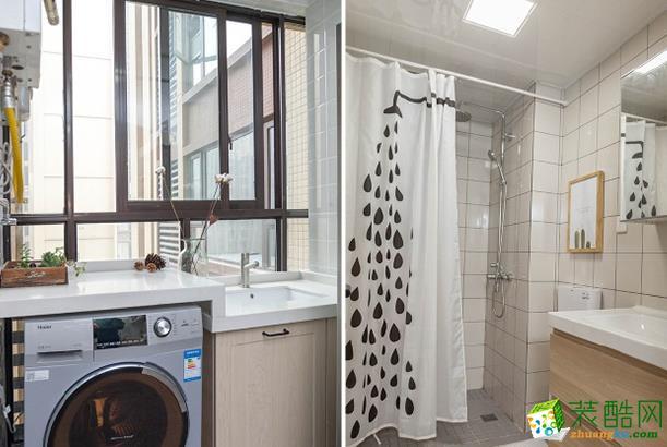 济南威廉装饰-85平米简约两居室装修案例
