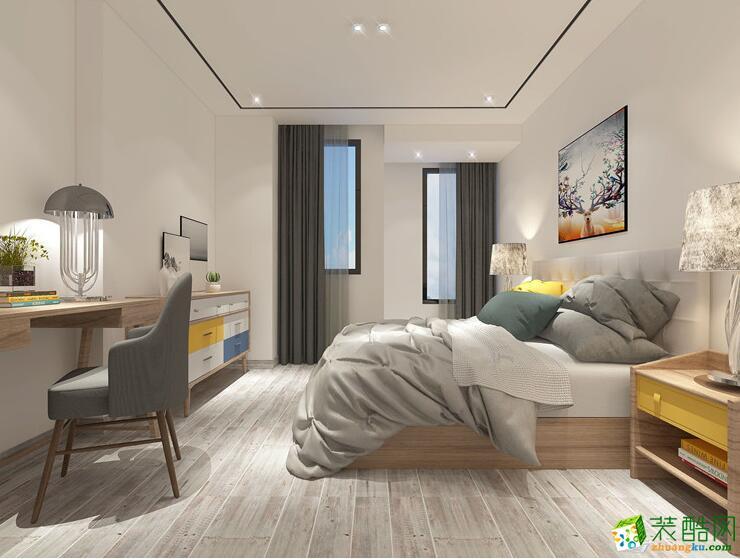 卧室 徐州两室两厅两卫装修—六福装修85平现代简约风格装修效果图