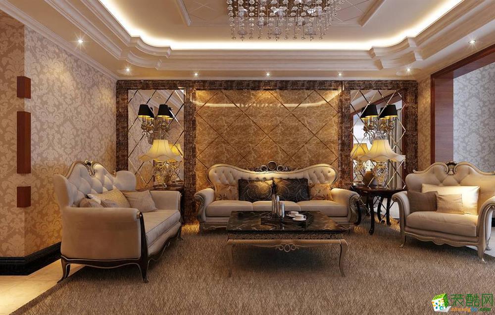 120平米三居室欧式风格装修效果图_欧式三室一厅一卫