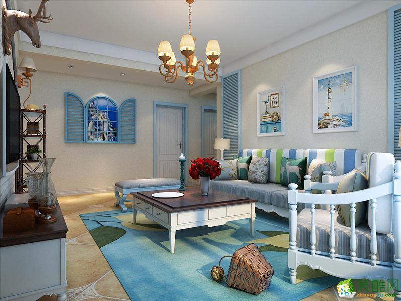 125平米三居室地中海风格装修效果图