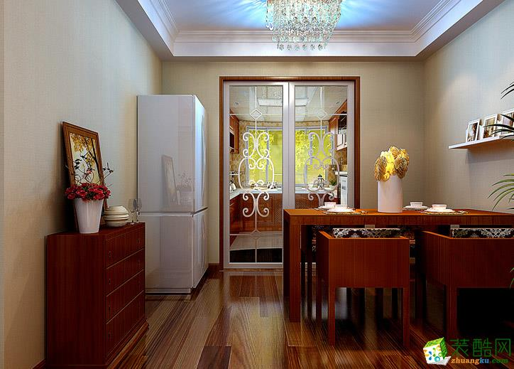 124平米欧式风格三居室装修效果图