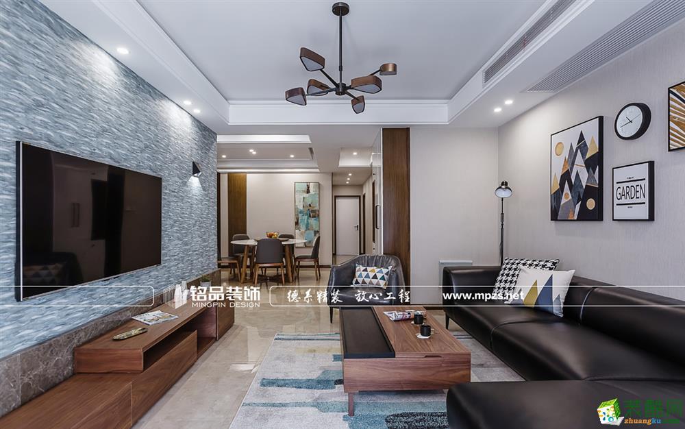 杭州公园城125㎡三室两厅两卫现代风格装修效果图