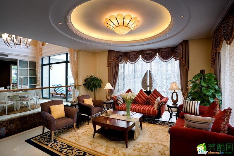 长春90平米三室两厅欧式风格装修效果图