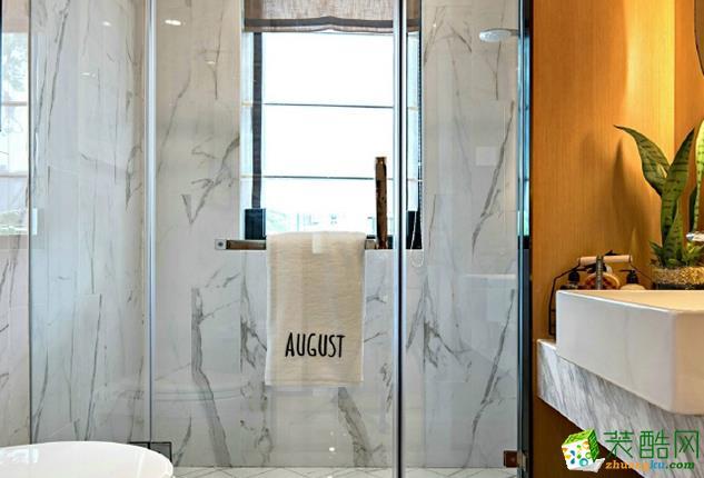 济南雅润装饰-85平米现代简约两居室装修案例