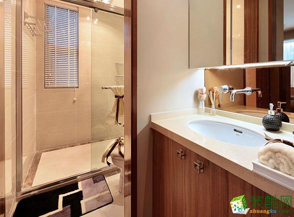 济南雅润装饰-92平米古典风两居室装修案例