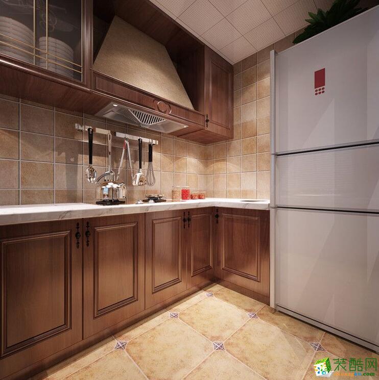 石家庄三室两厅一卫装修―紫林湾小区120平美式风格装修效果图