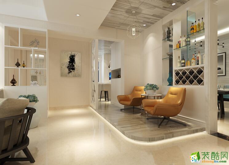 石家庄三室一厅一卫装修―希沃官邸100平简约风格装修效果图