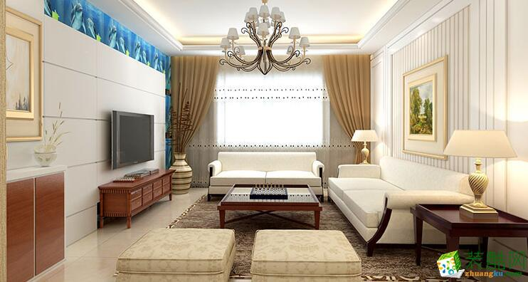 石家庄三室两厅一卫装修―琳晨装饰110平混搭风格装修效果图