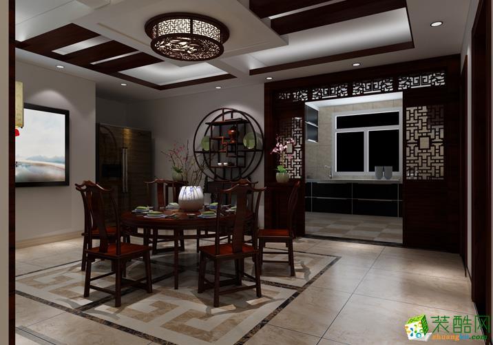 128三室一厅一卫中式风格装修效果图