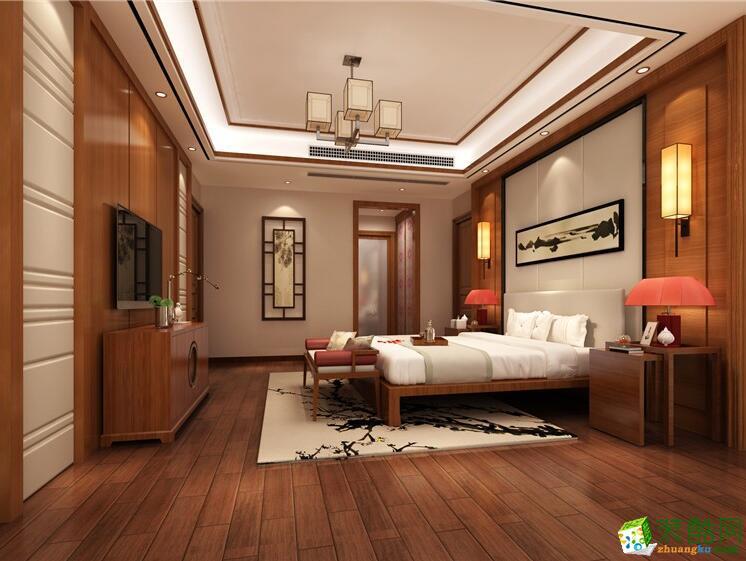 石家庄四室两厅两卫装修―琳晨装饰155平新中式风格装修效果图