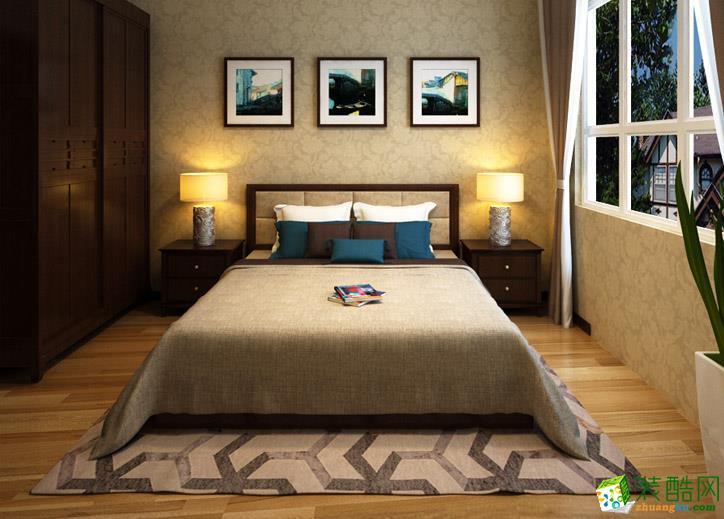 142平三室一厅新中式风格装修效果图