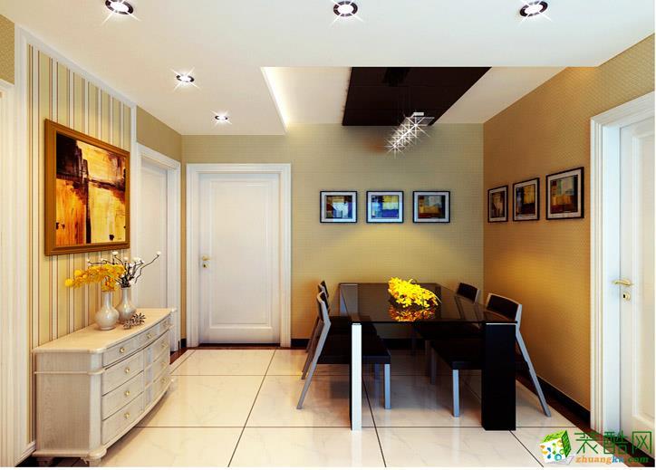 136平米三居室混搭风格装修效果图