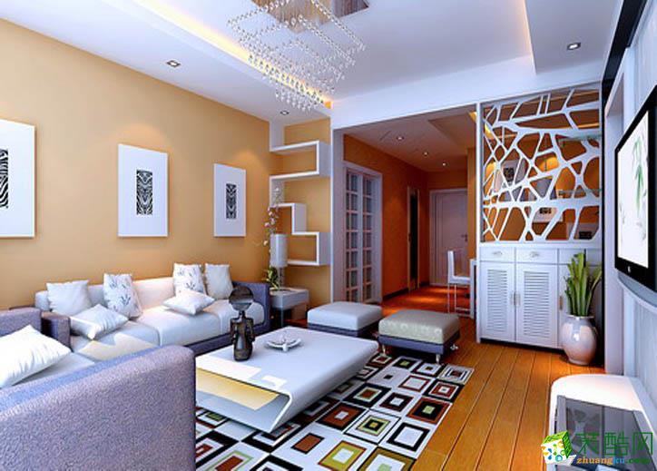 96平米二居室现代简约风格装修效果图