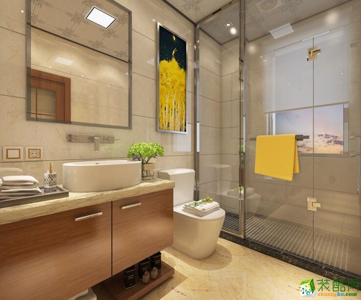 石家庄三室一厅一卫装修―琳晨装饰110平简约风格装修效果图