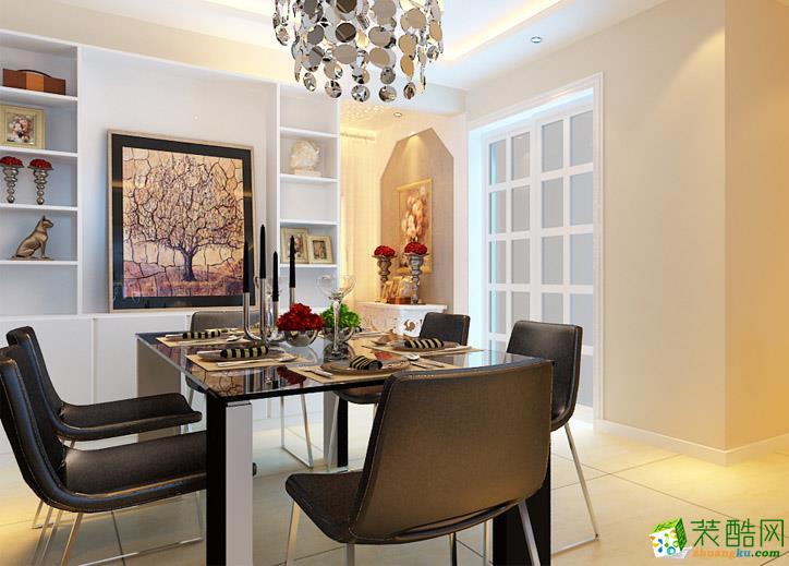 106平三居室现代风格装修效果图