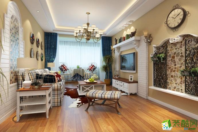 重庆三室两厅装修-125平米美式乡村风格装修效果图-渝冠装饰