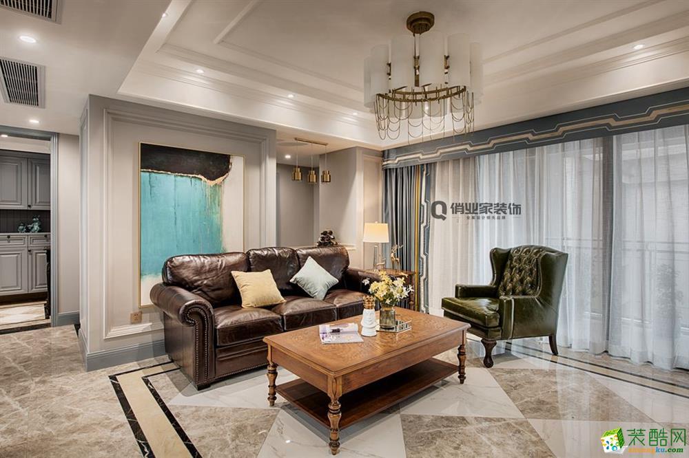 重慶四室兩廳裝修-美式風格136平米裝修效果圖-俏業家裝飾