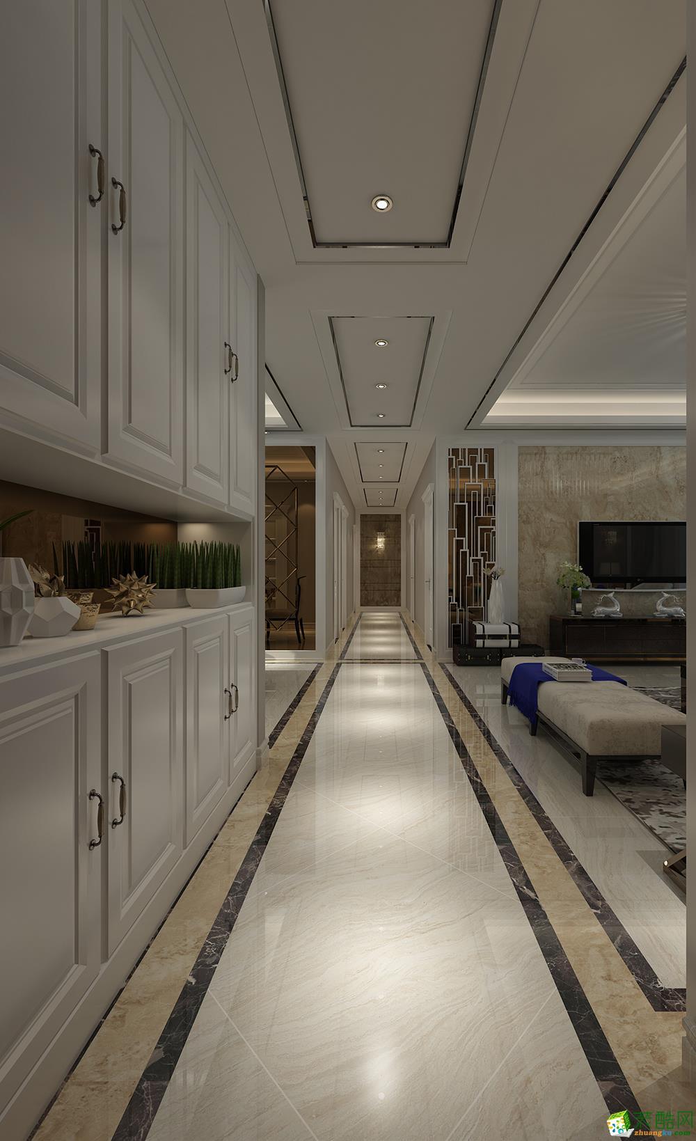 140平四居室现代简约风格装修效果图